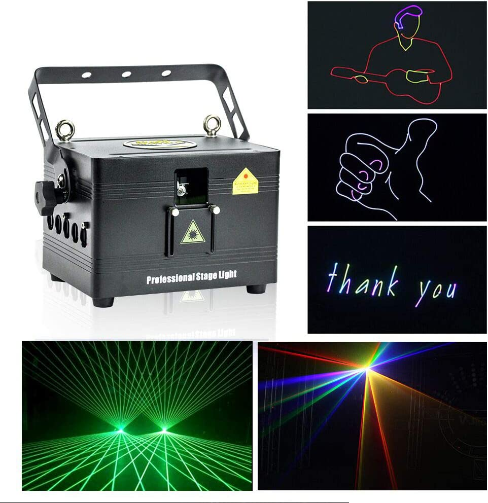 Amazon.com: V-Show 1W RGB Animation Laser Lights Show for Party, DMX Dj  Laser Stage Lighting Effect, 12CH, Programmable Laser Projector Best for  Disco Wedding Family Clubs Xmas RGB Lasers Show: Home Improvement