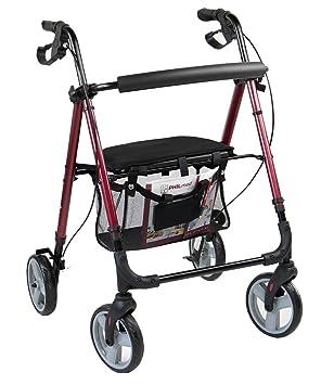 42cef71b219bd7 Antar Aluminium Leichtgewicht Rollator bis 130 kg belastbar  Amazon ...