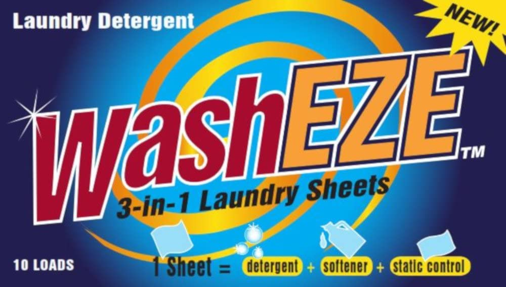 WashEZE (10 Ct) All in One Laundry Sheets