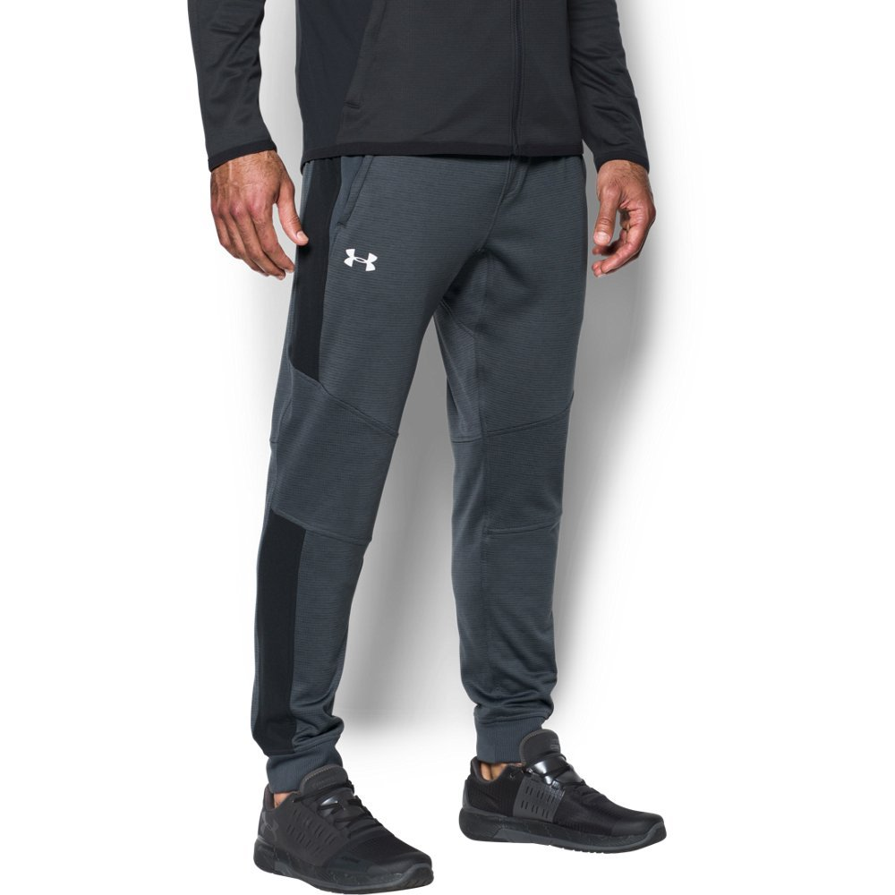 Under Armour Men's ColdGear Reactor Fleece Tapered Pants,Stealth Gray (008)/Black, XXX-Large by Under Armour