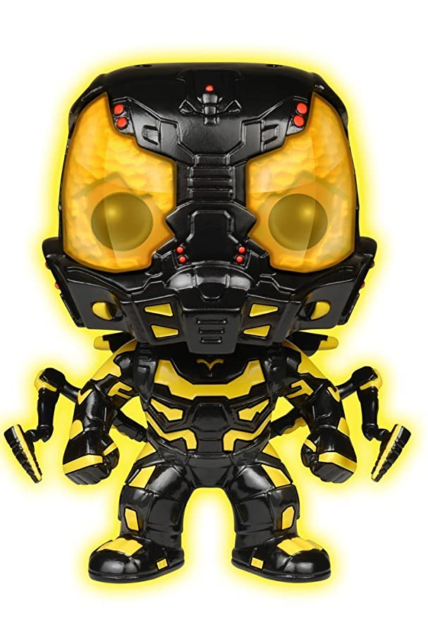 Funko POP Movies: Ant-Man Glow in The Dark Yellow Jacket Action Figure (Amazon Exclusive)