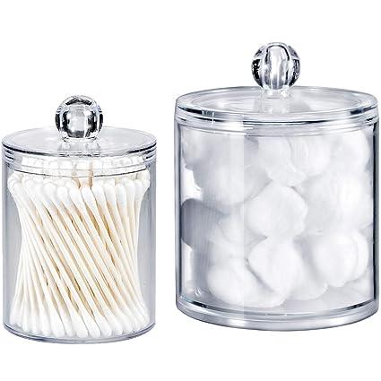 Bon Qtip Dispenser Holder Bathroom Vanity Organizer Apothecary Jars Canister  Set For Cotton Ball,Cotton Swab