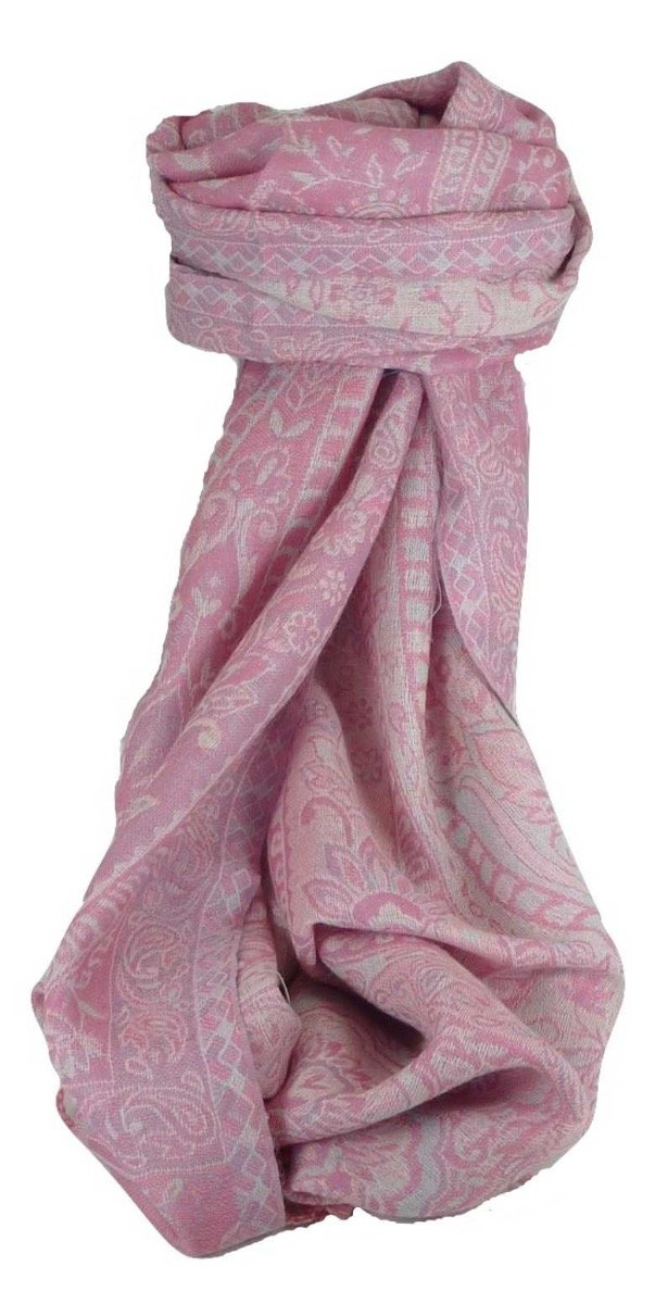 Muffler Scarf 2473 in Fine Pashmina Wool from the Heritage Range by Pashmina & Silk