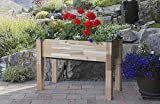 CedarCraft Self-Watering Elevated Cedar Planter (23' X 49' X 30') -...