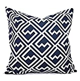 Blue Pillows - Navy and White Geometric Pillow Cover - Custom Pillow Sham - Decorative Pillow Case - 16 x 16 Inch 18 x 18 Inch 20 x 20 Inch Throw Pillow