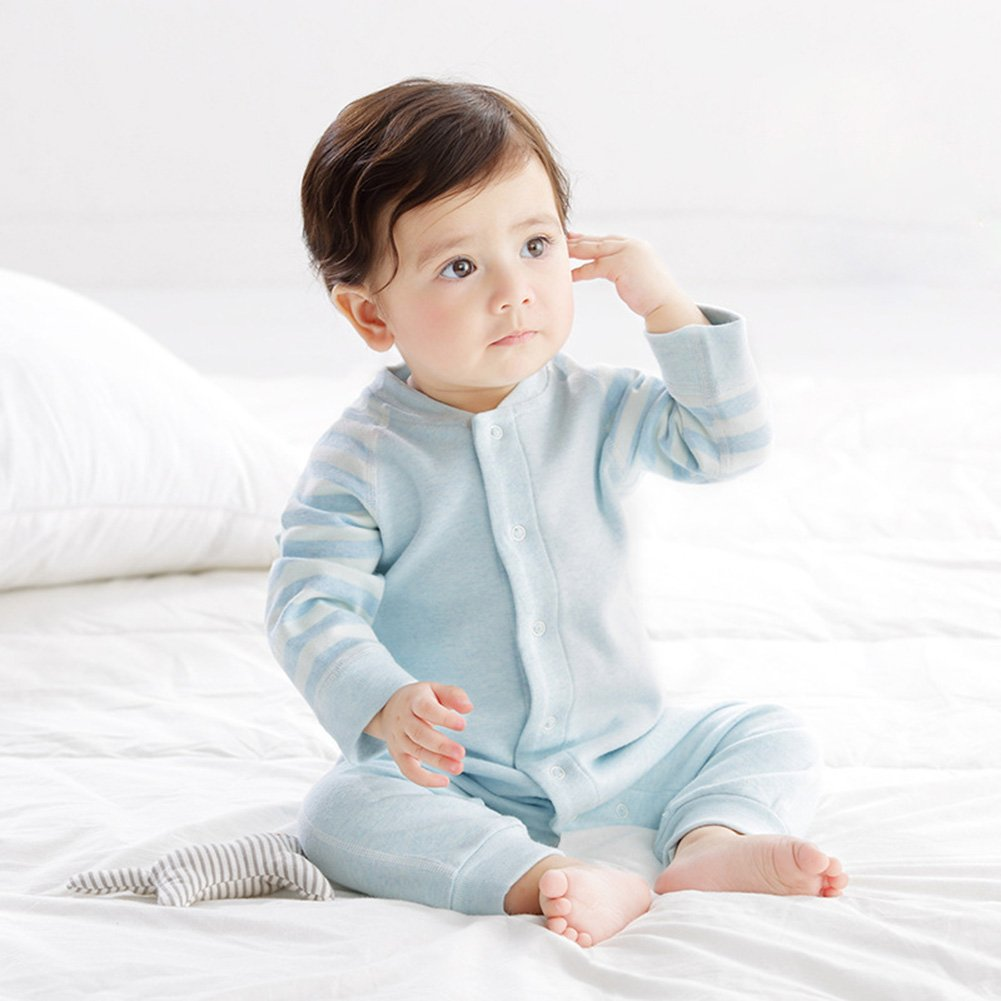 Y/&H Toddler Super Soft Long Sleeve Bodysuit Romper Infant Baby Boys Cotton Jumpsuit Baby Girls Pajamas Outfit