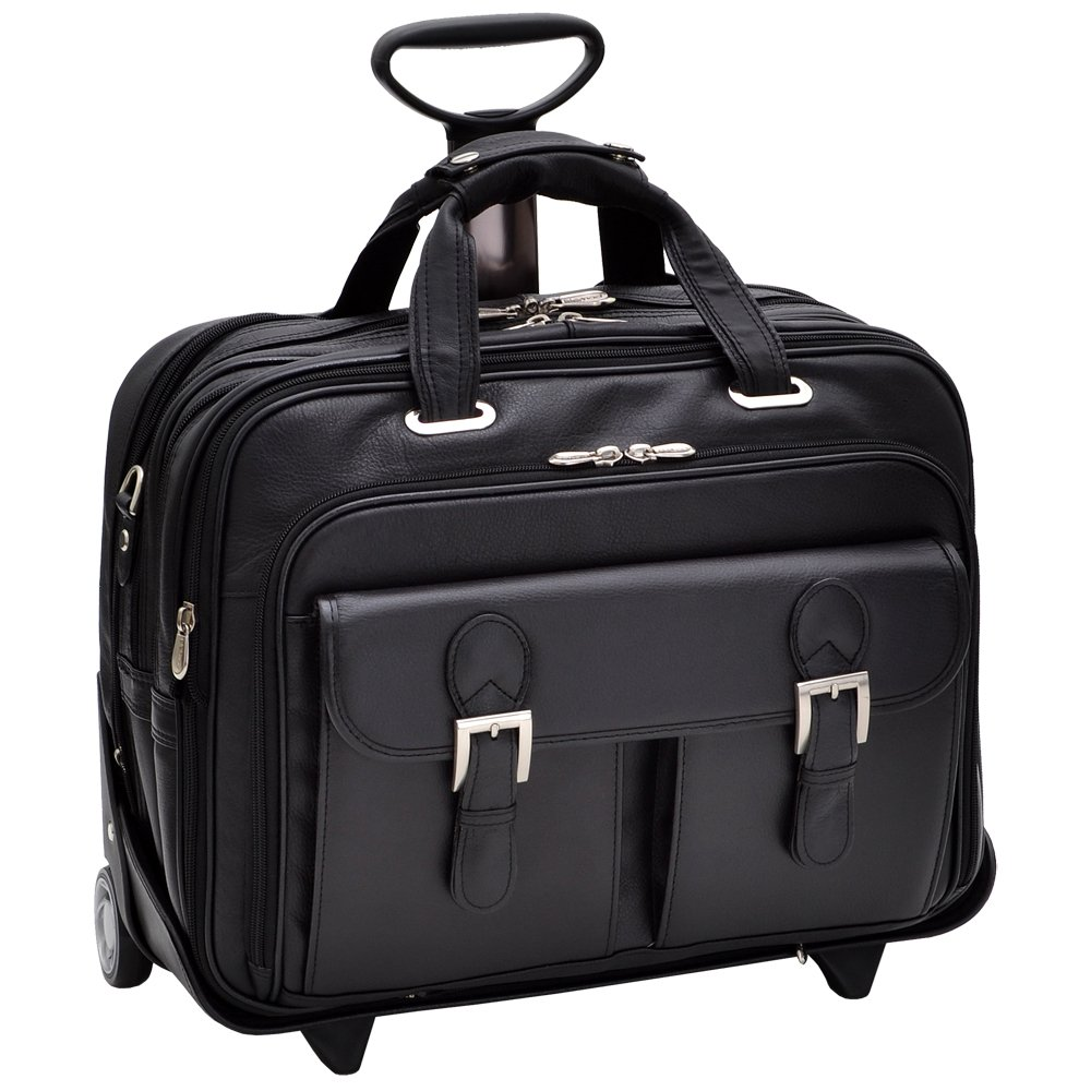 Siamod CERESOLA 46005 Black Checkpoint-Friendly 15.6'' Detachable-Wheeled Laptop Case