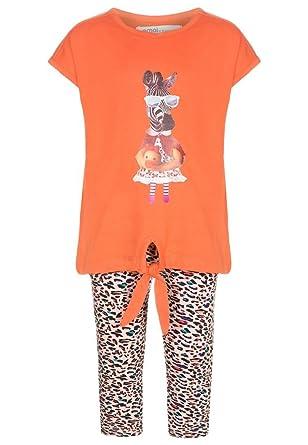 d8286968aef7ec Girls Dress Leggings 2 Piece Set Size 98 / 104 / 110 / 116 / Blue / White /  Multi-Coloured: Amazon.co.uk: Clothing