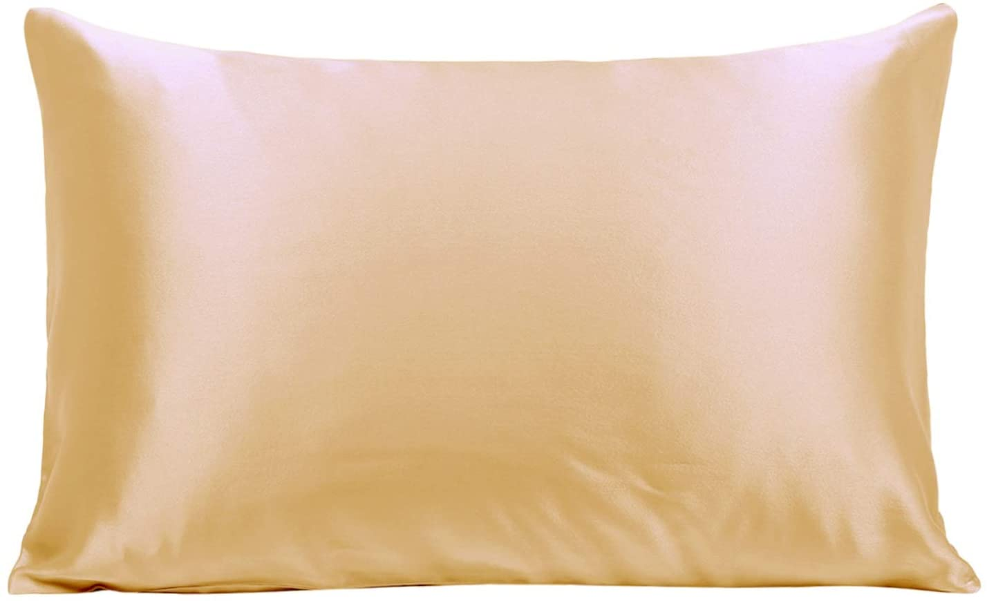 Ravmix Silk Pillowcase Standard Size for Hair and Skin Both Sides 21 Momme 600 Thread Count Hypoallergenic 100% Mulberry Silk Pillow Case with Hidden Zipper, 20×26inches, Champagne Gold
