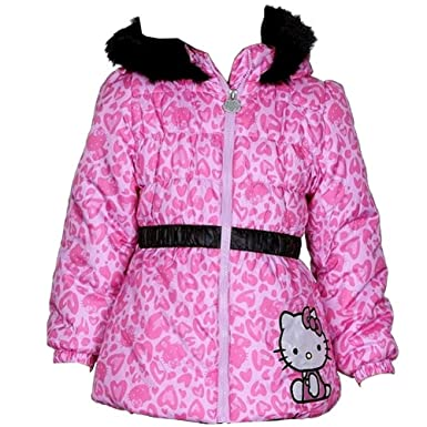990829dfd Hello Kitty Infant/Toddler Girl's HK033 Puffer Fleece Lined Winter Jacket  (2T, Pink