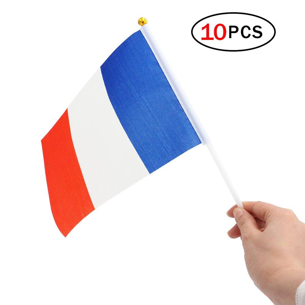 Feier der Vorgang-Festival Mini Flagge # Frankreich # NiceButy 10/Pcs 14/* 21/cm Flagge f/ür Klebesticks Dekorationen Internationalen Flaggen-Spiel von L/ändern f/ür Vereine Sportler