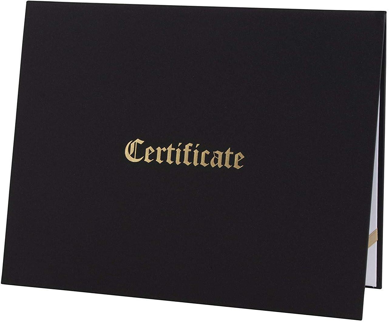 Pack de 12 soportes para certificados papel de aluminio dorado 29,2 x 20,8 cm funda para documentos para certificados de premio de tama/ño carta funda de diploma