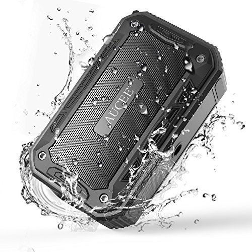 AUCEE Wireless Bluetooth Speakers,IPX7 Waterproof Portable Outdoor Bluetooth Speakers with Bluetooth 4.2,Loud Stereo Sound, Enhenced Bass, Built-In MIC for Party,Beach,Biking,Shower,Car, Home(Black).