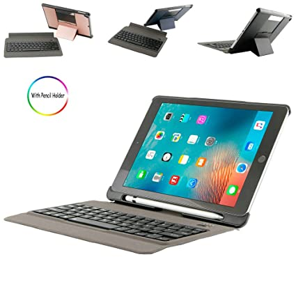 premium selection 9c32f 75ab8 Amazon.com: iPad 9.7 inch 2018 Keyboard Case with Pencil Holder ...