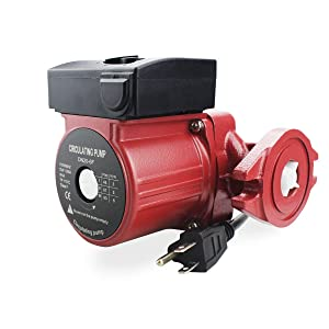 BACOENG 115V Flanged 3-Speed Recirculating Pump, Hot Water Circulation Pump for Water Heater System