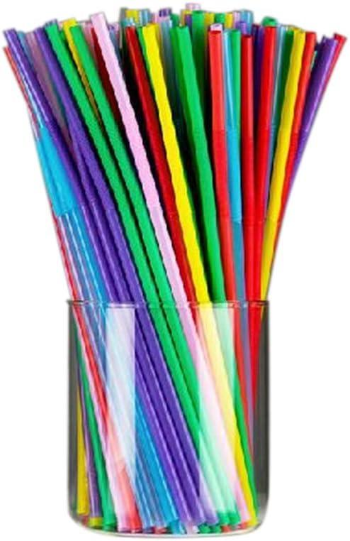 Da.Wa Beverage Juice Milk Tea Multi Colored Drinking Straw Moldable Straw