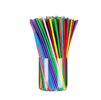 100 pcs Colorful Extra Long Flexible Bendy Party Disposabl Drinking Straws by chendongdong