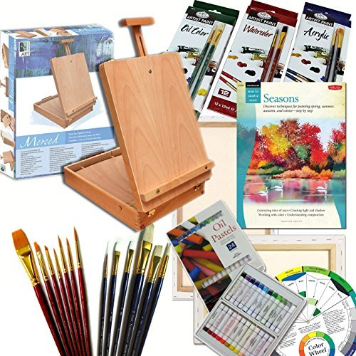 Artist Quality Full Size Table Easel Art Set Complete All Media Painting Supplies & More by Online Art Supplies