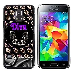 Caucho caso de Shell duro de la cubierta de accesorios de protección BY RAYDREAMMM - Samsung Galaxy S5 Mini, SM-G800, NOT S5 REGULAR! - Girl Eve God Eden Drawing White