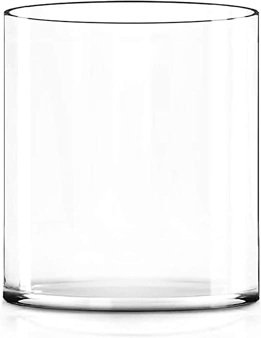 Amazon Com Cys Excel 10 Wide Vase Hand Blown Glass Cylinder Vase Thickness 1 4 Flower Vase Floating Candle Holder Decorative Centerpiece Water Plant Aquarium 10 Wide X 12 Tall Home Kitchen