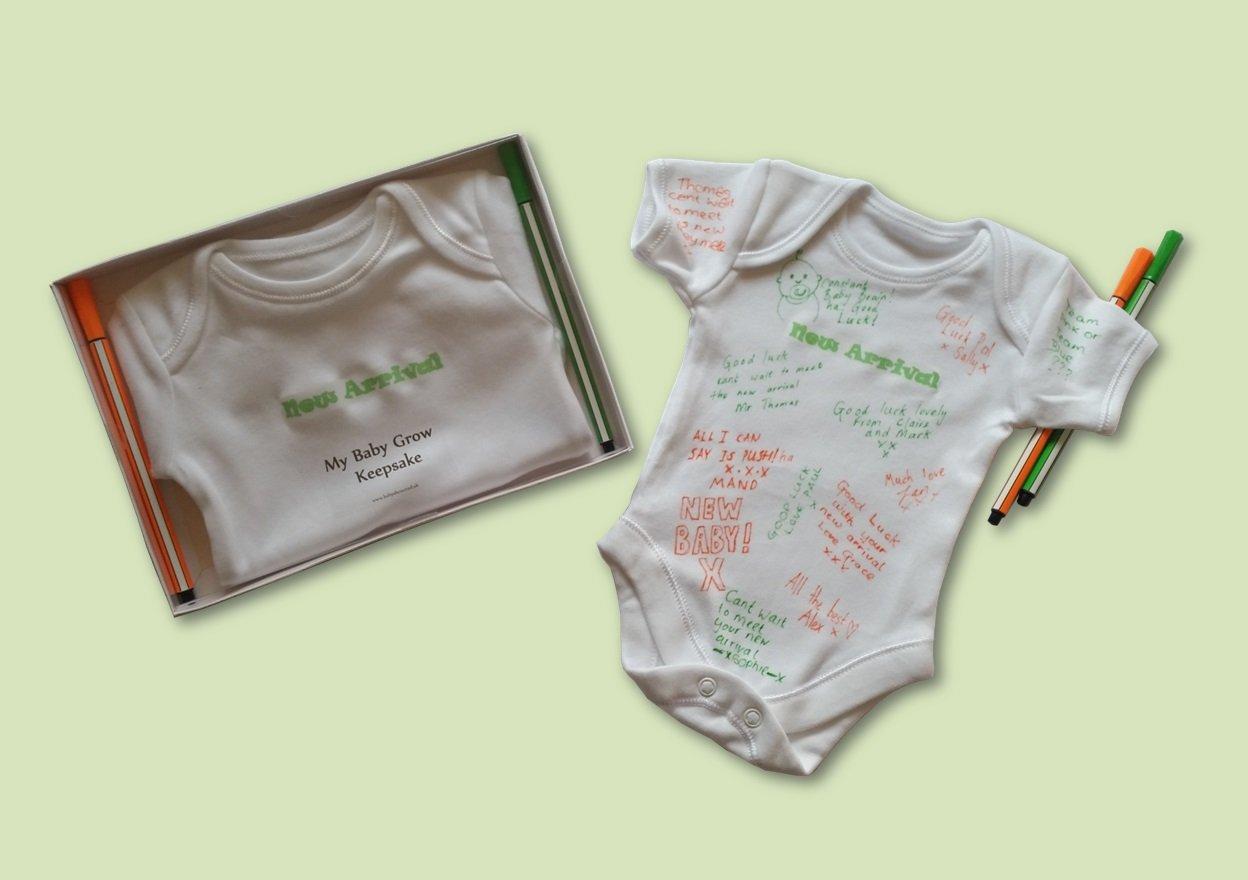 6f7cf7890c Personalised Sign- MY BABY GROW KEEPSAKE - baby shower game   leaving work  gift (BLUE)  Amazon.co.uk  Baby