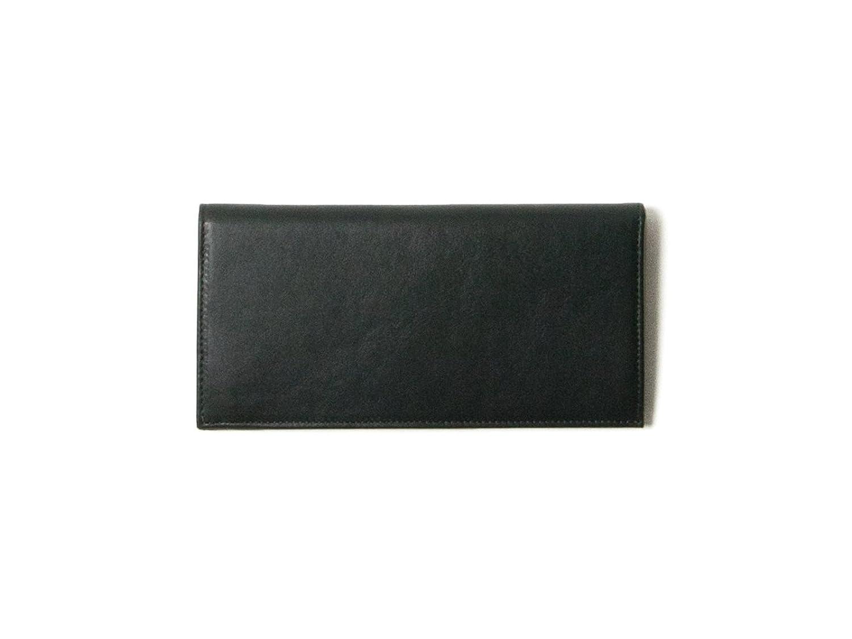 【本革】 長財布 (小銭入れなし) レディース (ブラックグリーン) Business Leather Factory B00UN5AVBA
