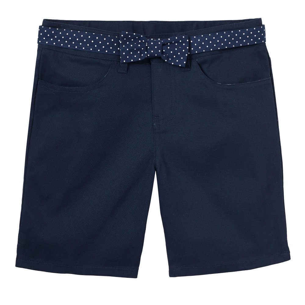 French Toast Girls' Big Belted Short, SH9250