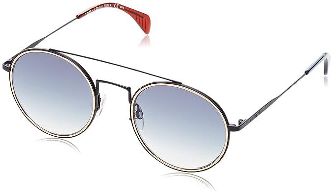 c2195894c764b Tommy Hilfiger Unisex-Erwachsene Sonnenbrille TH 1455 S 08 BQZ 53, Blau (