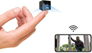 Spy Camera 4K HD Wireless Hidden Camera Micro Mini Spy Cam With Live Feed App Long Bettery Life Smallest Wifi Security Cameras Portable Nanny Cam Baby Monitor With Night Vision Motion Detection Alerts