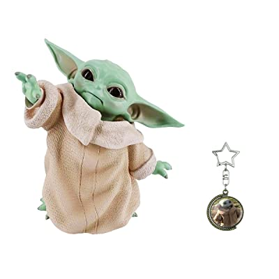 Haho Baby Yoda Collection Baby Yoda Doll Figure Replica Decorations And Baby Yoda Keychain: Clothing