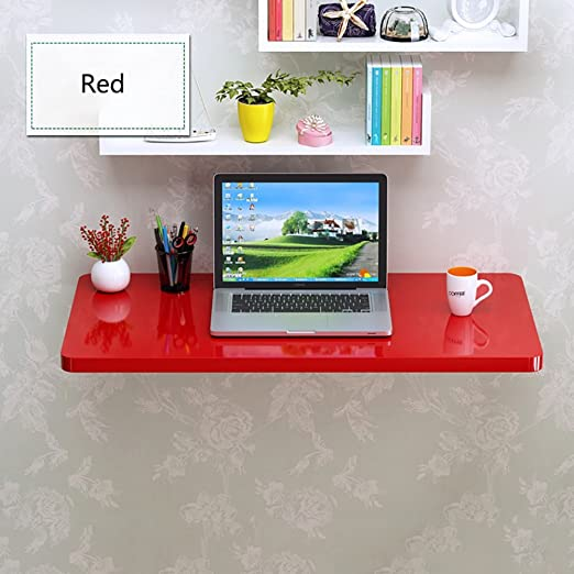 Folding Wall Tables Mesa de Comedor Plegable, Color Rojo, para ...