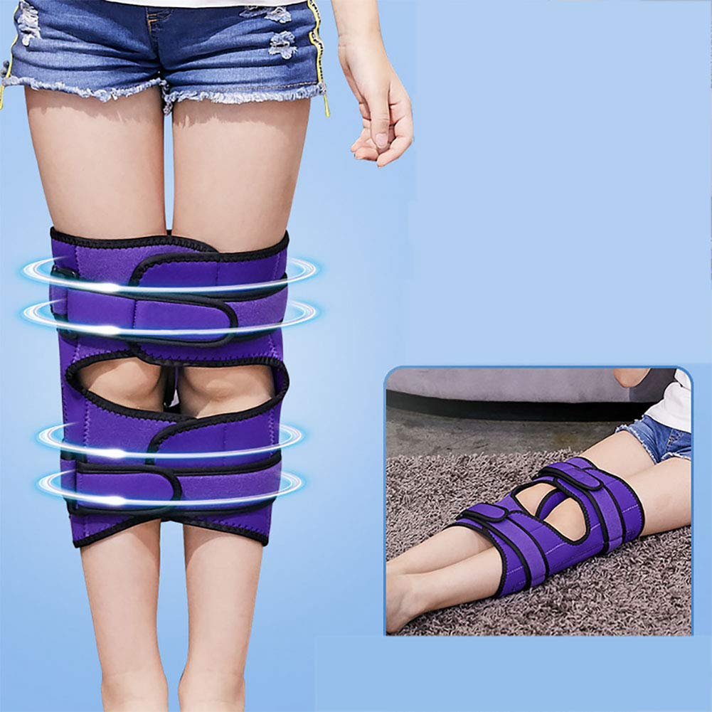 ZHLXZ Child Legs Corrector Belt Straighten Belt Durable Material Leg Correction Device for XO-Type Leg,One Size,Purple