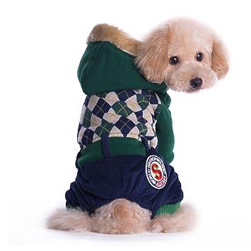 TQP-CK Abrigo Mascota Perro para ropa de perro de invierno gruesa chaqueta cálida: Amazon.es: Productos para mascotas