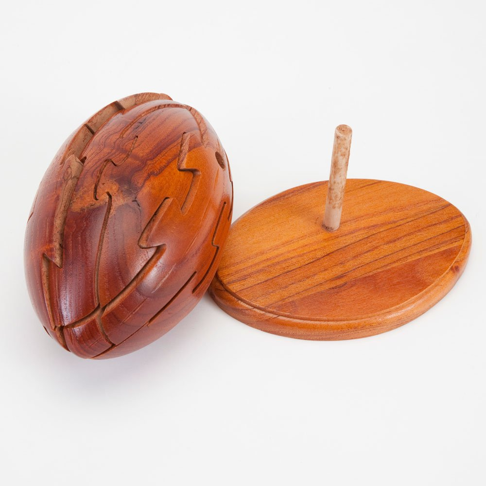 3D Jigsaw Puzzle Sports Puzzle 3D Wooden Football Ball Puzzle Bits and Pieces Dimension in Wood
