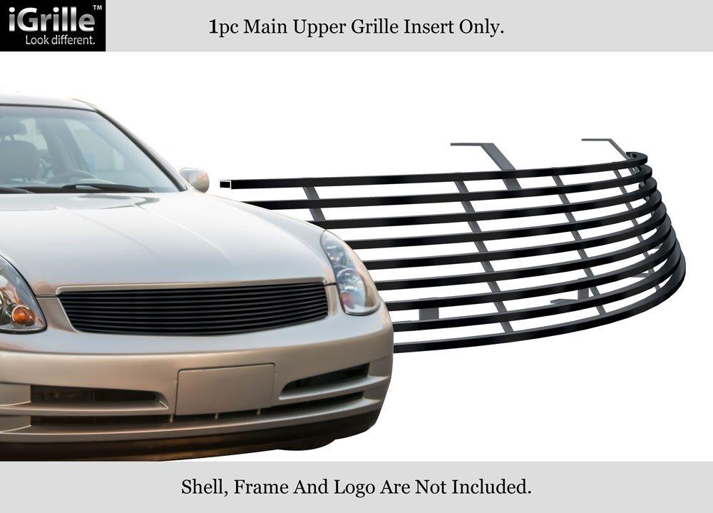 APS Fits 2003-2004 Infiniti G35 Sedan Stainless Steel Black Billet Grille #N85600J