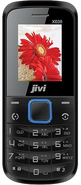 Jivi X606 Dual Sim 1800 mAh   Black Basic Mobiles