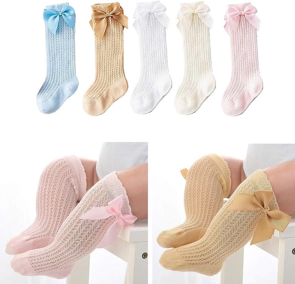 Chaussettes Antid/érapantes B/éb/é 0-2 ans Chaussette B/éb/é Fille Manyo Chaussettes Hautes Anti-moustique -100/% sur Coton Couleur Unie