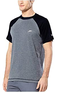 Teal Cove Mens Side Panel Short Sleeve Swim Tee with 20 Upf Protection Teal Cove Mens Swimwear TC013SP