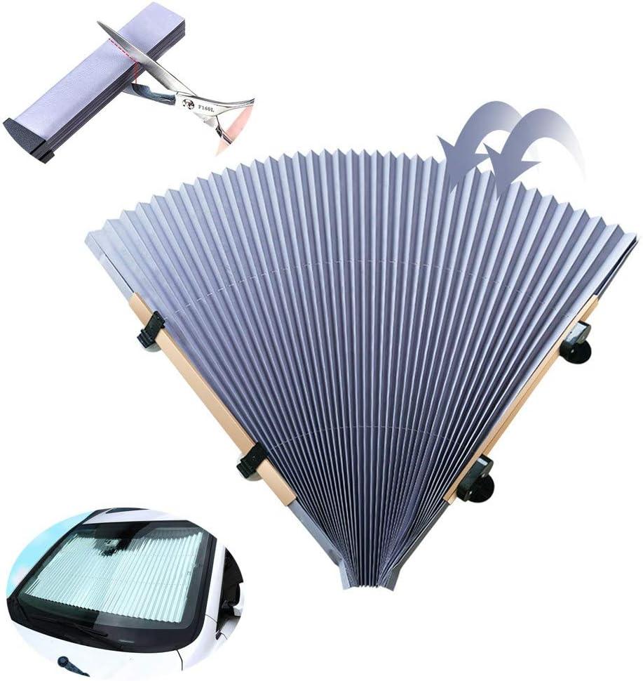 Parasol retr/áctil para parabrisas delantero parasol retr/áctil autom/ático parasol de aislamiento de calor para coche