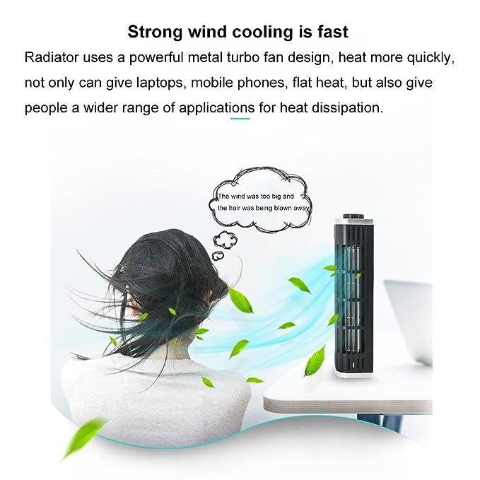 ZZG Tableta del teléfono móvil del radiador del ordenador portátil soporte de enfriamiento silencioso externo de la base de refrigeración del cuerpo humano ...
