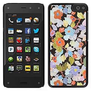 EJOY---Cubierta de la caja de protección para la piel dura ** Amazon Fire Phone ** --Rustic Art Wallpaper floral