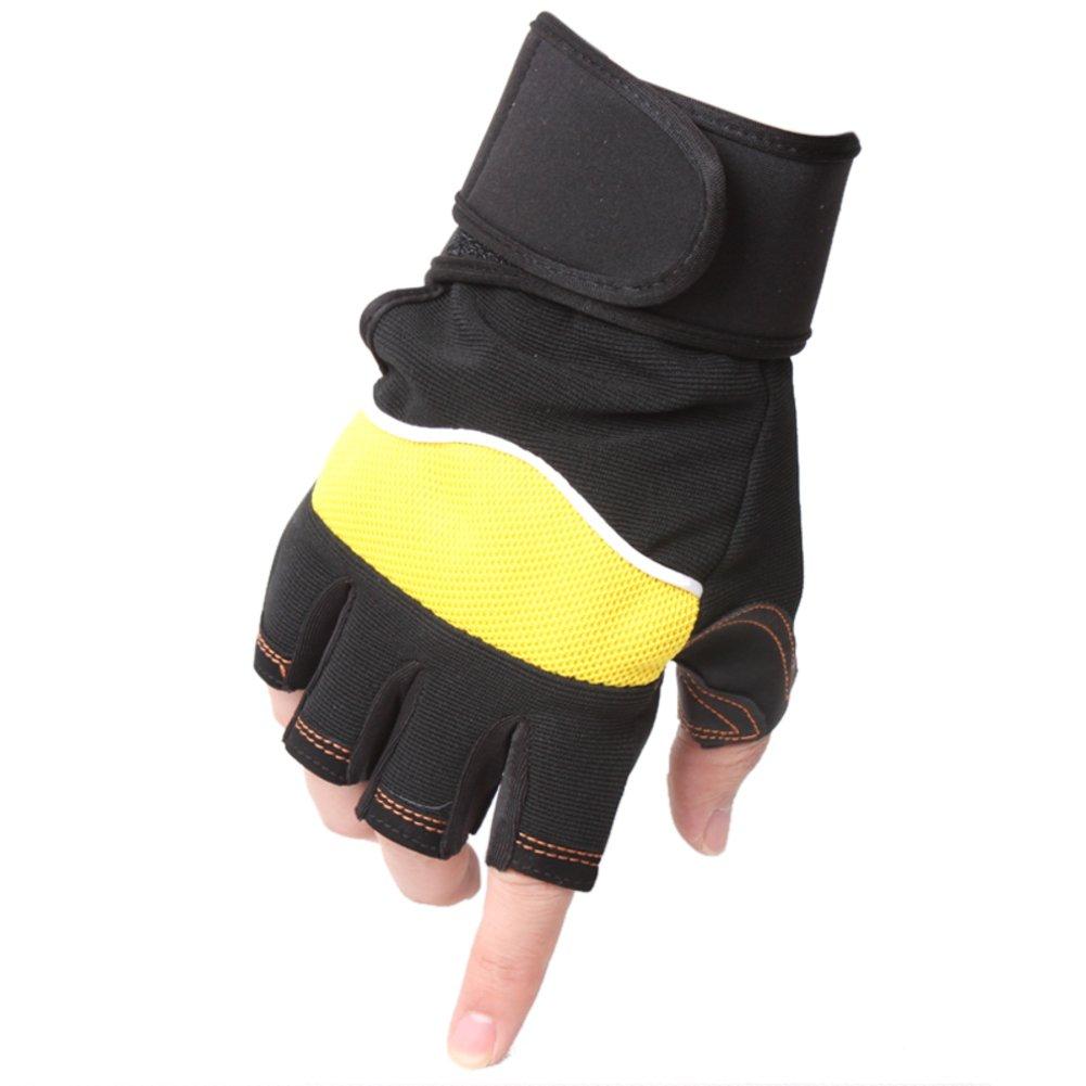 fitness half-finger glove in spring and summer Exercise dumbbell weight non-slip gloves for men and women-C One Size
