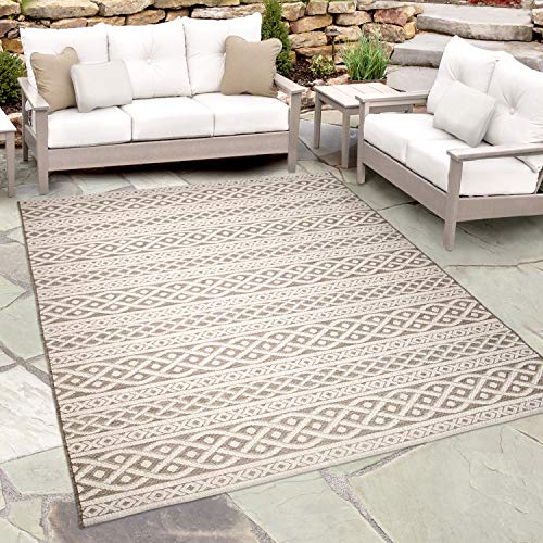 (Orian Rugs JRH/6730/E519/160x230 Organic Cable Knit Rug, 5'1