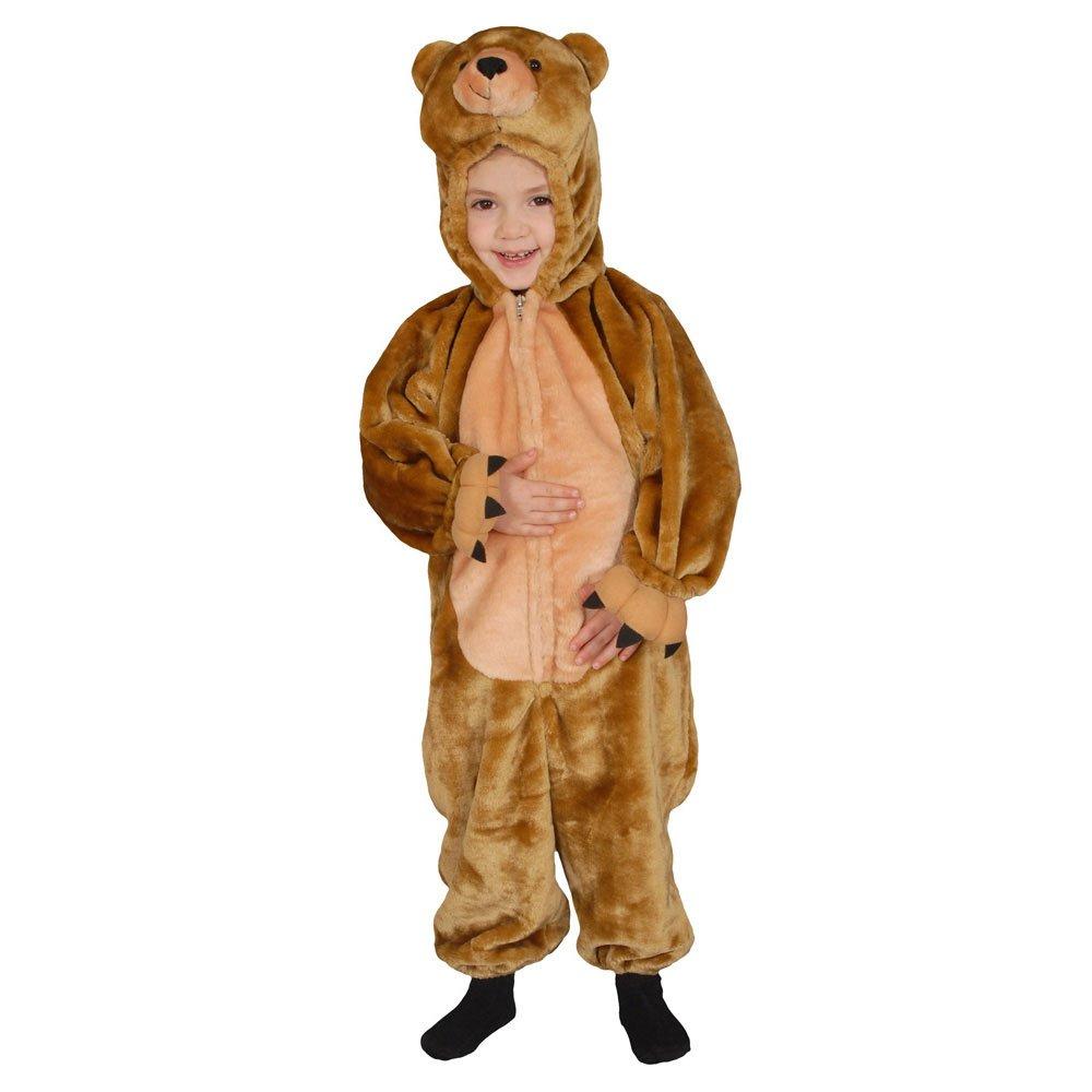 Dress Up America 268-14 -  Costume per travestimento da Orsetto, Bambini, 12-14 anni, vita 91 cm, altezza 140 cm, Marronee