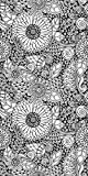 Canvas On Demand Julia Snegireva Removable Wallpaper Tile for Coloring, 24'' x 48'', entitled 'Flowers I'