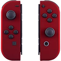 eXtremeRate Soft Touch Grip Red Joycon Handheld Controller Housing with Full Set Buttons, DIY Replacement Shell Case for…