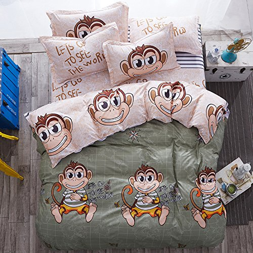 4pcs Magic Novelty Animal Print Bedding Sheet Set One Duvet