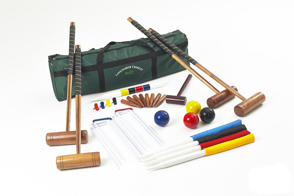 Garden Games Longworth Full Sized Adult Croquet Set in a Canvas Storage Bag by Garden Games