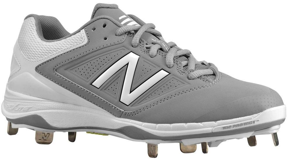 [ニューバランス] New Balance 4040v1 Metal Low レディース ベースボール [並行輸入品] B071Z9MZNZ US06.5|グレー/ホワイト グレー/ホワイト US06.5