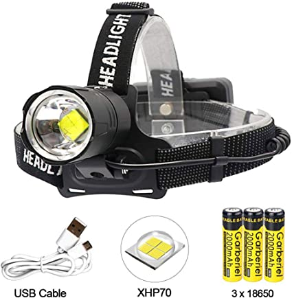 Super hell einstellbare Stirnlampe 12 LED Kopflampe Leuchtstärke-Headlight